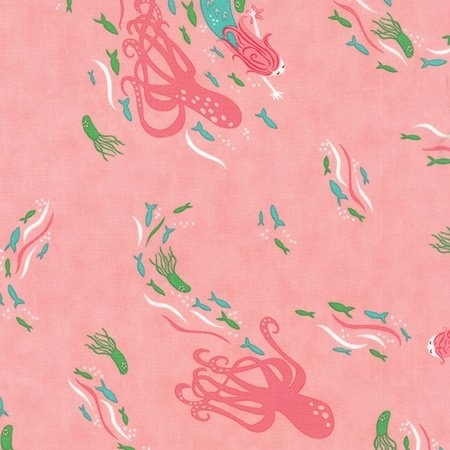Stacy Iest Hsu - Coral Queenof the Sea Above Sea View in Pink