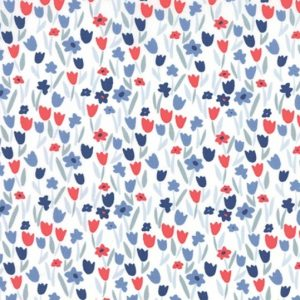 Kate Spain Aria - Abloom in Cloud Navy floral fabric