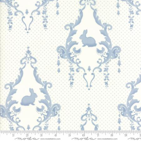 Moda Lily & Will Revisited - Bunnies in Cream Blue
