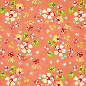 Corey Yoder - Prairie Large Floral in Coral