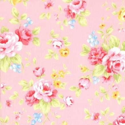Lecien Antique Flower in Pastel Large Floral in Pink