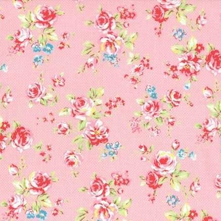 Lecien Antique Flower in Pastel Medium Floral in Pink