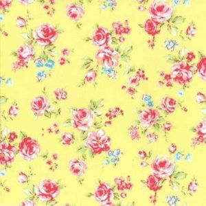 Lecien Antique Flower in Pastel Medium Floral in Yellow