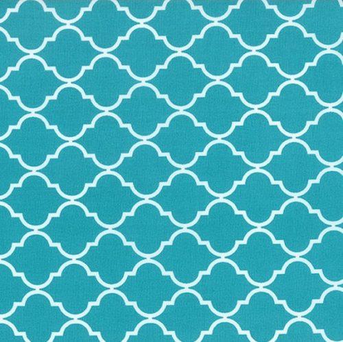 Moda Quattro - Quaterfoil in Turquoise by Studio M