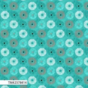 Cynthia Coulter Isabella - Flowers in Teal
