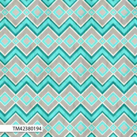 Cynthia Coulter Isabella - Chevrons & Diamond in Light Grey