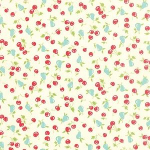 Bonnie & Camille Vintage Picnic - Smitten in Cream - Fruit fabric
