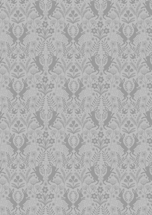 Lewis & Irene Sailsbury Spring - Little Hares GRey on Grey