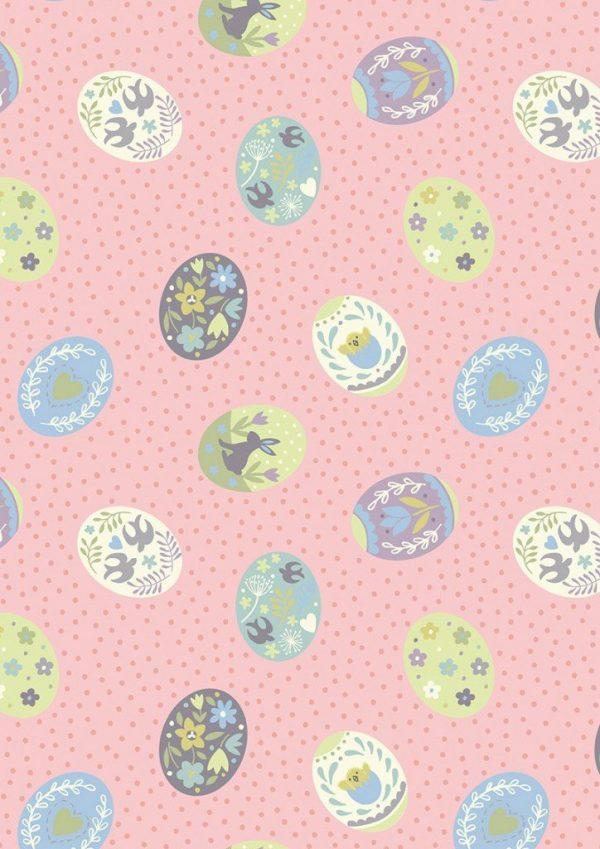 Lewis & Irene Sailsbury Spring - Painted Eggs Pink
