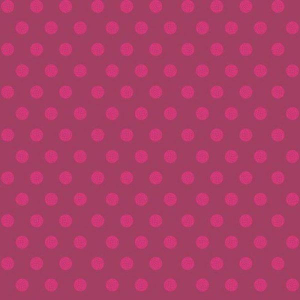 Alison Glass Sun Print 2016 - Sphere in Raspberry