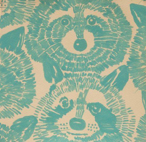 Alexander Henry Nicole's Prints Rocky Racoon Turquoise