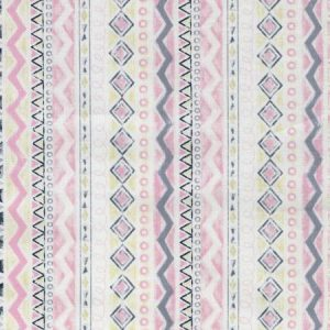Timeless Treasures - Geo Stripe Pink