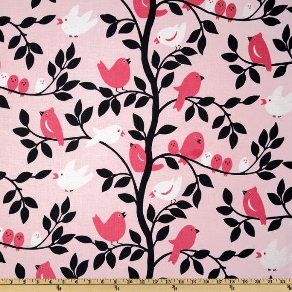 Michael Miller Tweetie Pie in Pink