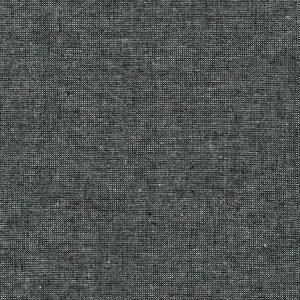 Robert Kaufman - Essex Yarn Dyed Linen Metallic - Ebony