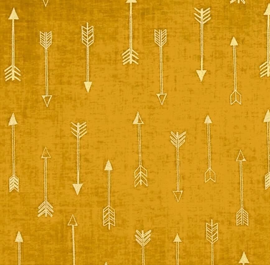 Michael Miller Arrow Flight - Arrows in Gold