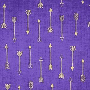 Michael Miller Arrow Flight - Arrows in Grape