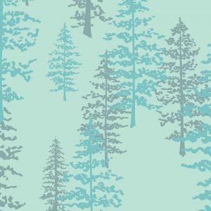 Art Gallery Nightfall Mystical Woods Aqua