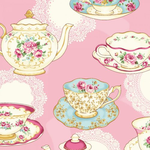 Quilt Gate RuRu Bouquet Tea Party - Tea Party in Pink