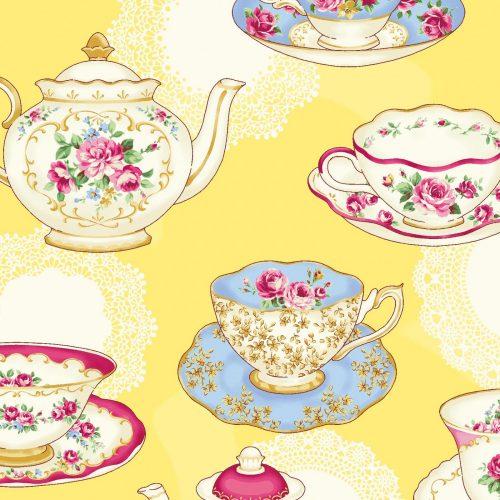 Quilt Gate RuRu Bouquet Tea Party - Tea Party in Yellow