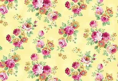 Quilt Gate RuRu Bouquet Tea Party - Small Floral in Yellow
