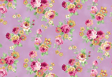 Quilt Gate RuRu Bouquet Tea Party - Small Floral in Lavander