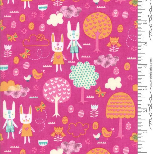 Moda Spring Bunny Fun - The Great Hunt in Petunia Pink