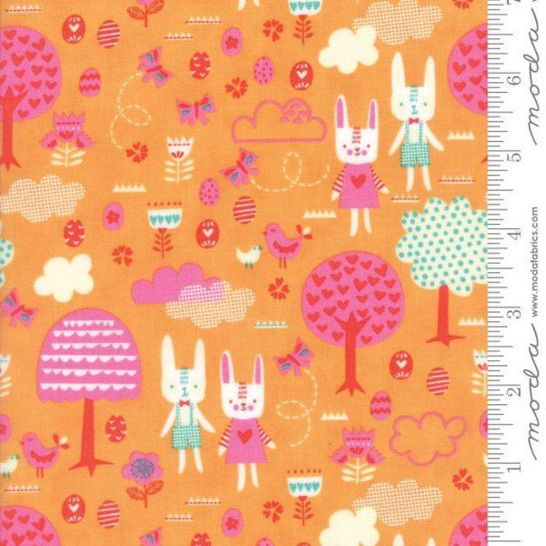 Moda Spring Bunny Fun - The Great Hunt in Apricot