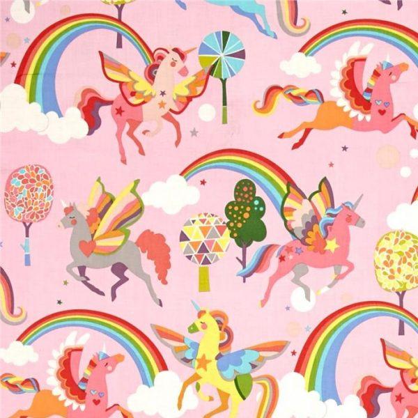 Alexander Henry - Monkey Bizness Magic Rainbow Shine Pink