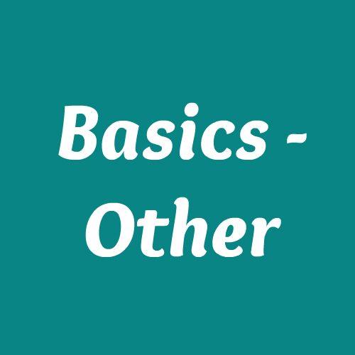 Basics - Other