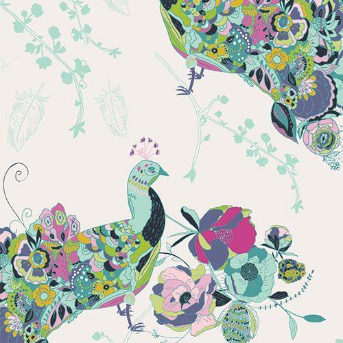 Art Gallery Petal & Plume Peacock Waltz Festal