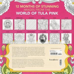 Tula Pink Colouring Calander back