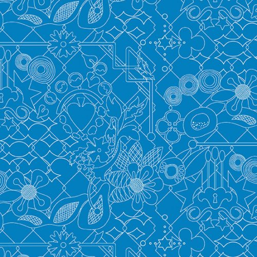 Alison Glass Sun Print 2017 8482-T Overgrown Bluebonnet