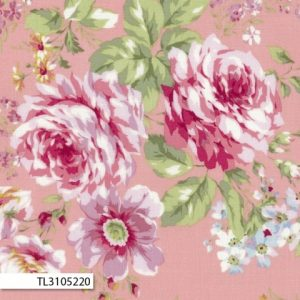 Lecien Rococo & Sweet Large Floral Pink
