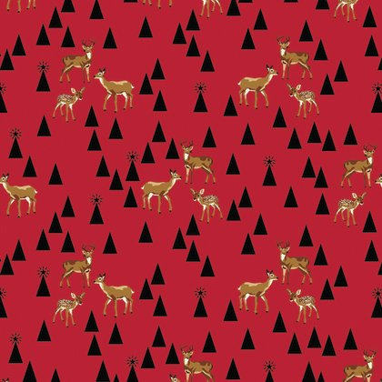 Tula Pink Holiday Homies Bambi Life Holly Berry - PWTP106.0HOLL