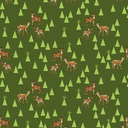 Tula Pink Holiday Homies Bambi Life Pine Fresh - PWTP106.0PINE
