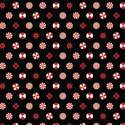 Tula Pink - Holiday Homies Peppermint Stars Ink - PWTP108.0INK
