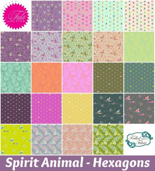 Tula Pink - Spirit Animal Hexagons