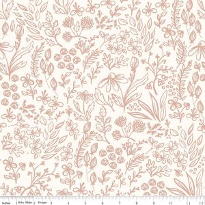 Riley Blake - Yes Please Main Floral Cream sc6550-cream