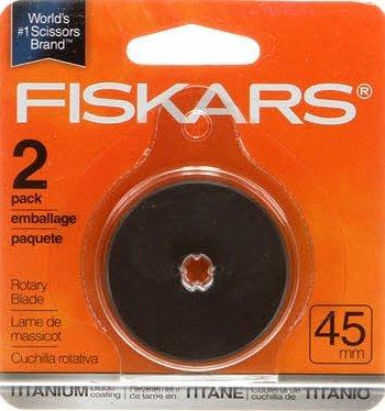 Fiskars 45mm Titanium Rotary Blades - 2pk