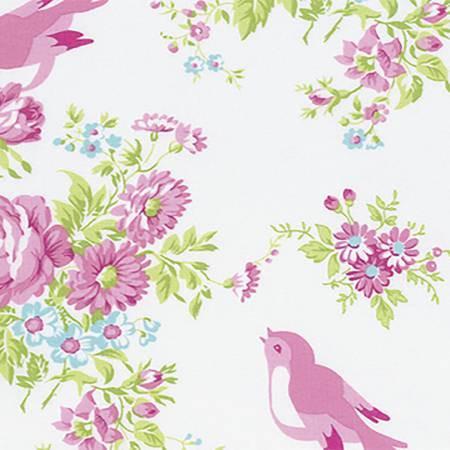 Free Spirit - Tanya Whelan Zoeys Garden - Zoey Birdie White PWTW116.WHT