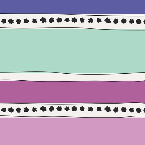 Art Gallery - Jeni Baker - Geometric Bliss - Mobius Stripe Cool GBL-1439