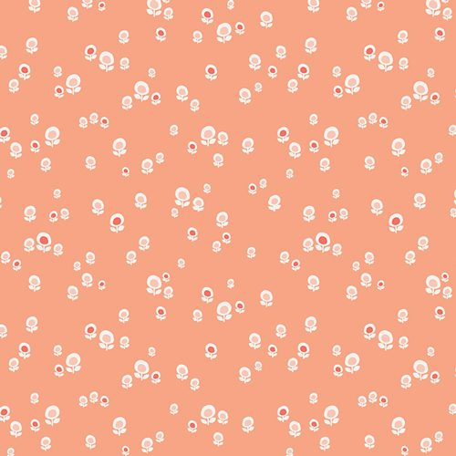 Art Gallery - Jeni Baker - Geometric Bliss - Spherical Buds Peach GBL-2431