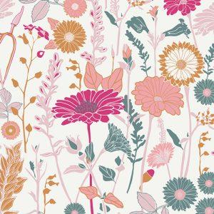 Art Gallery Fusions - Flower Field Bachelorette Fusions KNIT KF-507