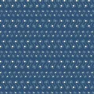 Art Gallery Fabric - Cleta - Linked Blue CL-30044