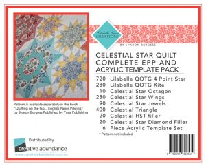 Lilabelle Lane - Celestial Star Quilt Kit EPP Set