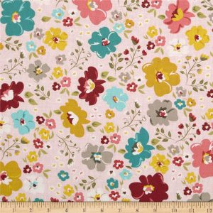 Riley Blake - Unforgettable Large Floral Pink