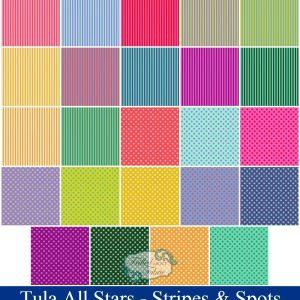 Free Spirit - Tula Pink All Stars - Pom Poms & Stripes