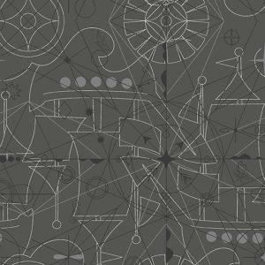 Alison Glass - Sun print 2018 Compass Inky 8673-C