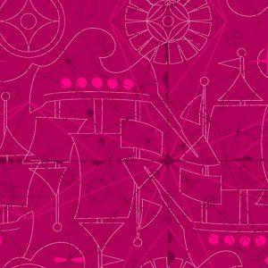 Alison Glass - Sun print 2018 Compass Sangria 8673-E