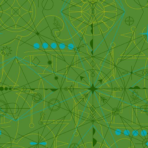 Alison Glass - Sun print 2018 Compass Shamrock 8673-G